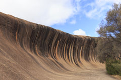 Close-Up of Wave Rock Rock Formation Royalty Free Stock Image