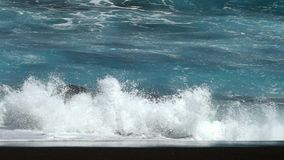 Close-up of a wave.Slow motion. stock footage