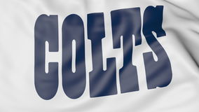 Close-up of waving flag with Indianapolis Colts NFL American football team logo, 3D rendering Stock Photography