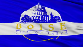 Close Up Waving National Flag of Boise City. Boise City Flag Close Up Realistic Animation Seamless Loop - 10 Seconds Long stock video