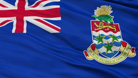 Close Up Waving National Flag of Cayman Islands stock video