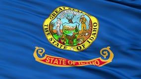 Close Up Waving National Flag of Idaho stock footage