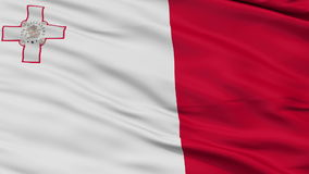 Close Up Waving National Flag of Malta stock video