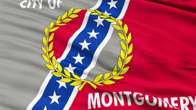 Close Up Waving National Flag of Montgomery City. Montgomery City Flag Close Up Realistic Animation Seamless Loop - 10 Seconds Long stock video footage