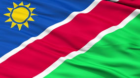 Close Up Waving National Flag of Namibia stock video footage