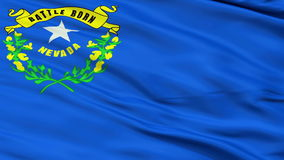 Close Up Waving National Flag of Nevada stock footage
