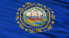 Close Up Waving National Flag of New Hampshire stock footage