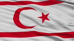 Close Up Waving National Flag of Northern Cyprus stock video footage