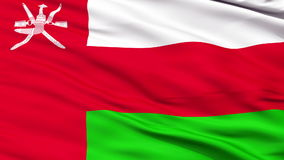 Close Up Waving National Flag of Oman stock footage