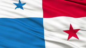 Close Up Waving National Flag of Panama stock footage