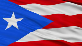 Close Up Waving National Flag of Puerto Rico stock video
