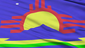 Close Up Waving National Flag of Roswell City. Roswell City Flag Close Up Realistic Animation Seamless Loop - 10 Seconds Long stock video