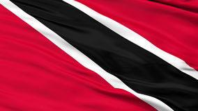 Close Up Waving National Flag of Trinidad and Tobago. Trinidad and Tobago Flag Close Up Realistic Animation Seamless Loop - 10 Seconds Long stock video