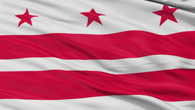 Close Up Waving National Flag of Washington D.C. City. Washington D.C. City Flag Close Up Realistic Animation Seamless Loop - 10 Seconds Long stock footage