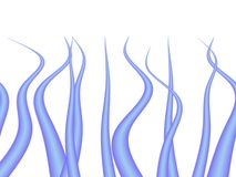 Close-up wavy hair. Close-up blue wavy hair background Stock Photography