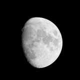Close-up of the waxing gibbous moon (84% of full). On 23 May 2010 Royalty Free Stock Images