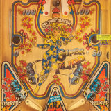 Close up of a weathered vintage pinball machine Royalty Free Stock Photography