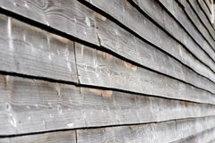 Wood cladding. Close up of weathered wooden cladding on a barn Royalty Free Stock Photo