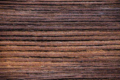 Close up on a weathered wooden plank Stock Images