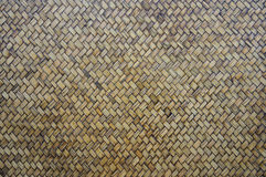 Close up weave bamboo pattern. Traditional thai style pattern nature background of brown handicraft weave bamboo material Royalty Free Stock Photography