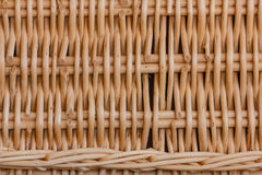 Close-up of a weave of a hamper Royalty Free Stock Images