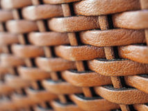 Close up weave leather texture background, in brown color Royalty Free Stock Photos