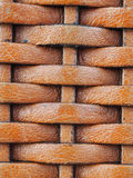 Close up weave leather texture background, in brown color Stock Image