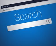 Close-up of Web Browser with secure address bar and search field bar royalty free illustration