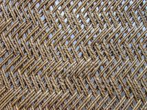 Close up of webbed wooden cot, India stock photography