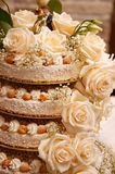 Close up of weddind cake Stock Image