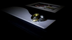 Close up of a wedding album Royalty Free Stock Photo