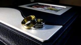 Close up of a wedding album Stock Photography