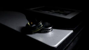 Close up of a wedding album Royalty Free Stock Image