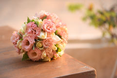 Close up of wedding bouquet. Close view of beautiful colorful wedding bouquet stock photography