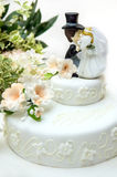 Close up of a wedding cake Stock Image