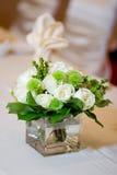 Close up Wedding da peça central da tabela principal Fotografia de Stock