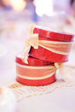 Close up the wedding gift for guest Royalty Free Stock Image