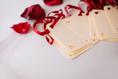 Close up of wedding greeting card Royalty Free Stock Image