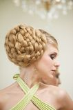 Close Up Wedding Hairstyle Royalty Free Stock Images