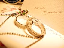 Close-up of Wedding Rings Stock Image