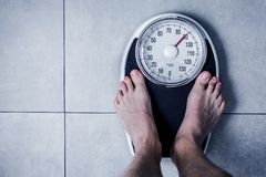 Close-up Weighing Scale. Close-up Weichling Scale Diating concept in badroom stock images