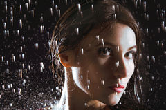 Close up wet portrait Royalty Free Stock Photography
