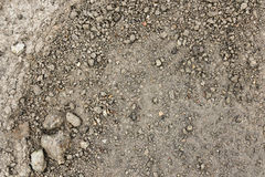 Close up wet stony soil in a spring Royalty Free Stock Photos