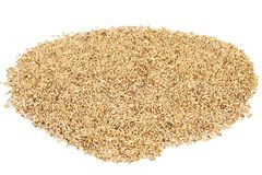 Close up of wheat grains. Isolated on a white background Royalty Free Stock Photo