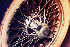 Close-up of wheel details of Vintage Car Stock Images