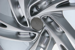 Close up wheel of a sports car Stock Photos