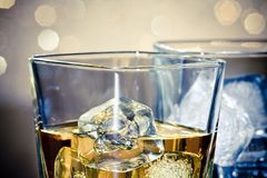 Close-up of whiskey glasses Stock Photos