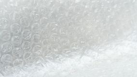 Close up White air bubble warp protection goods. For transport secure Royalty Free Stock Photo