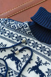 Close - up white blue knitted winter sweater Stock Image