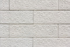 Close up White brick wall Stock Photography